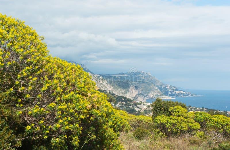Πανόραμα του Villefranche-sur-Mer στοκ εικόνες