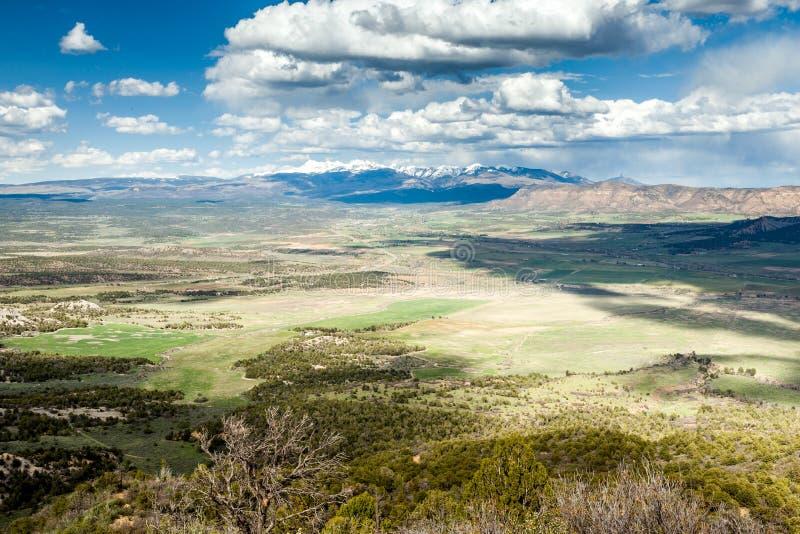 Πανόραμα των βουνών από το εθνικό πάρκο Mesa Verde, Κολοράντο στοκ εικόνα