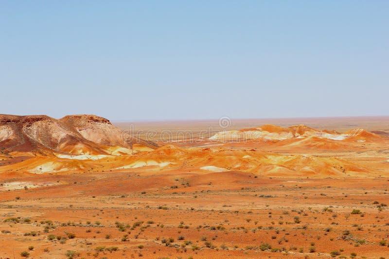 Πανόραμα των βουνών Breakaways, Νότια Αυστραλία στοκ φωτογραφία