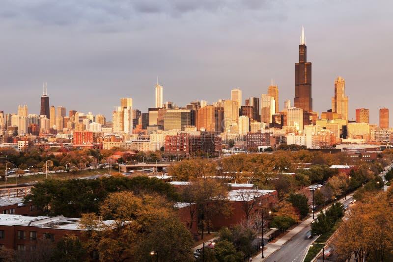 Πανόραμα φθινοπώρου του Σικάγου στοκ εικόνες