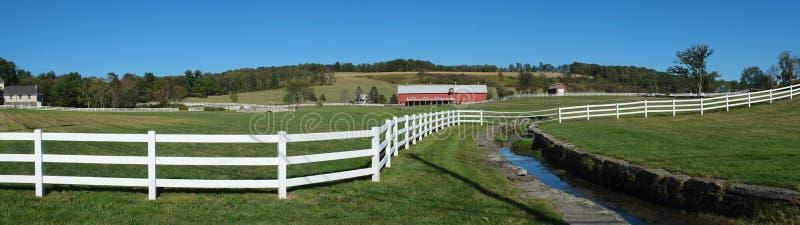 Πανόραμα φρακτών αγροκτημάτων στοκ φωτογραφία με δικαίωμα ελεύθερης χρήσης