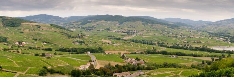 Πανόραμα Beaujolais της περιοχής στοκ φωτογραφία με δικαίωμα ελεύθερης χρήσης