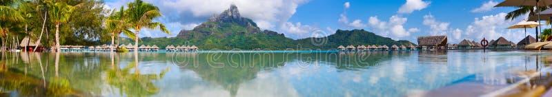 Πανόραμα Bora Bora στοκ φωτογραφία με δικαίωμα ελεύθερης χρήσης