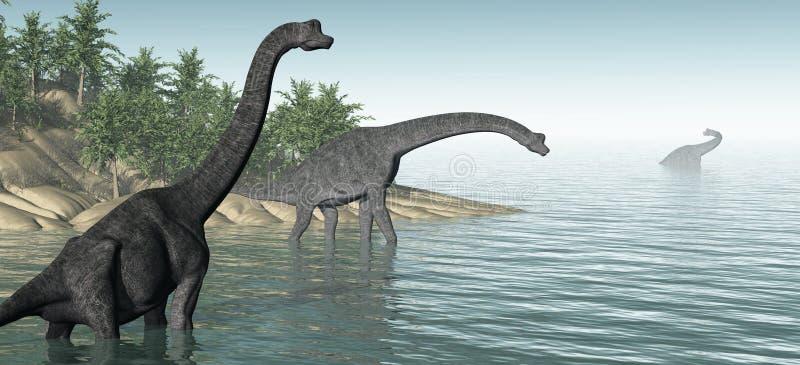 Πανόραμα Brachiosaurus απεικόνιση αποθεμάτων