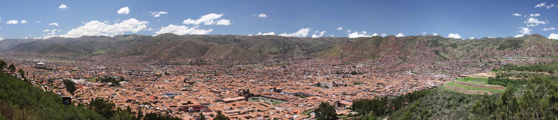 πανόραμα cuzco cusco πόλεων στοκ εικόνα