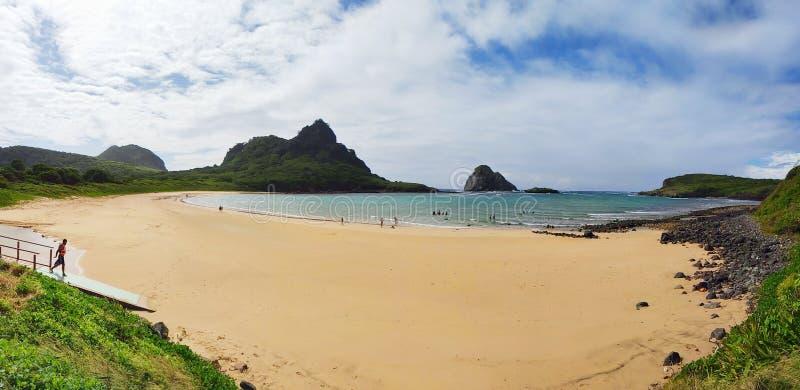 Πανόραμα DA Praia do Sueste στοκ φωτογραφία με δικαίωμα ελεύθερης χρήσης