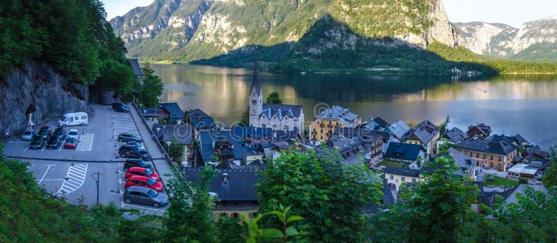 Πανόραμα Hallstatt, Άνω Αυστρία στοκ φωτογραφία με δικαίωμα ελεύθερης χρήσης