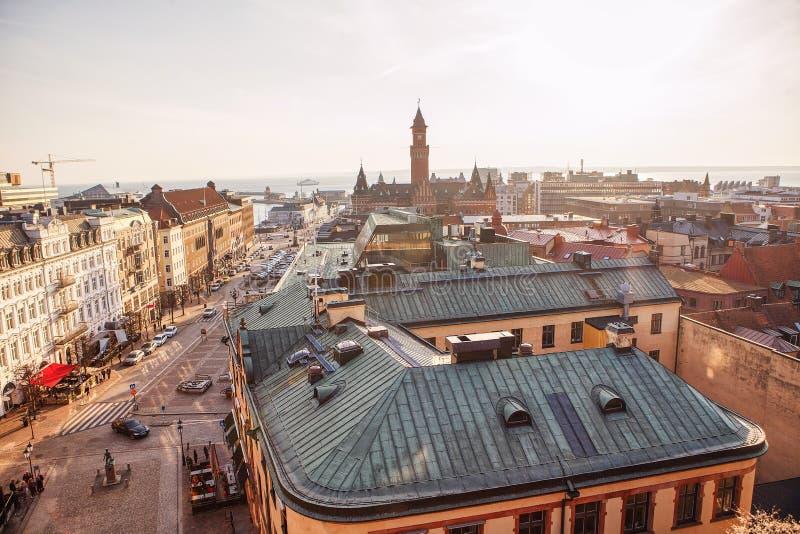 Πανόραμα Helsingborg Σουηδία στοκ φωτογραφία
