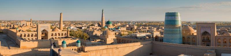 Πανόραμα Khiva στο ηλιοβασίλεμα στοκ εικόνες με δικαίωμα ελεύθερης χρήσης