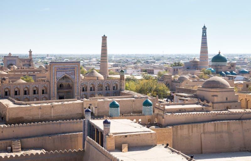Πανόραμα Khiva στοκ εικόνες