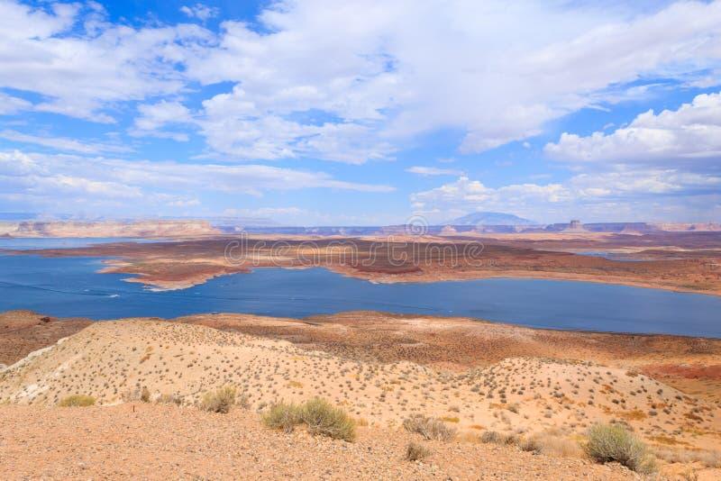 Πανόραμα Powell λιμνών στοκ φωτογραφία με δικαίωμα ελεύθερης χρήσης