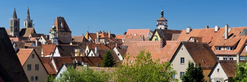 Πανόραμα Rothenburg ob der Tauber στοκ εικόνες
