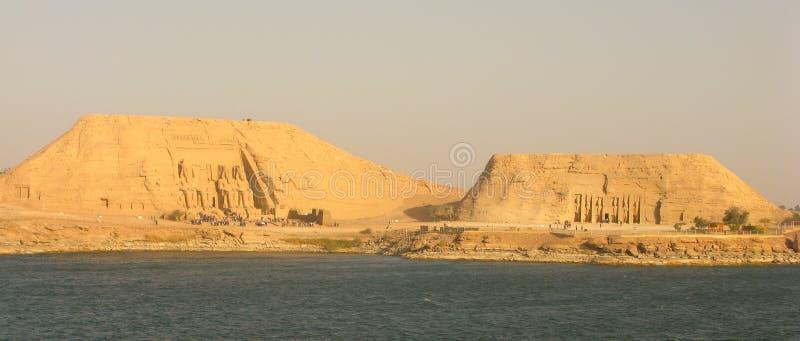Πανόραμα Simbel Abu στοκ εικόνα