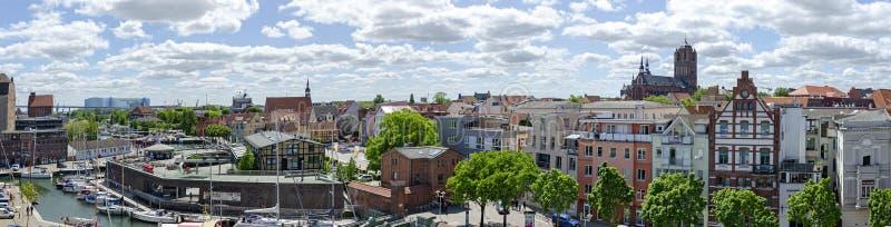Πανόραμα Stralsund στοκ εικόνες