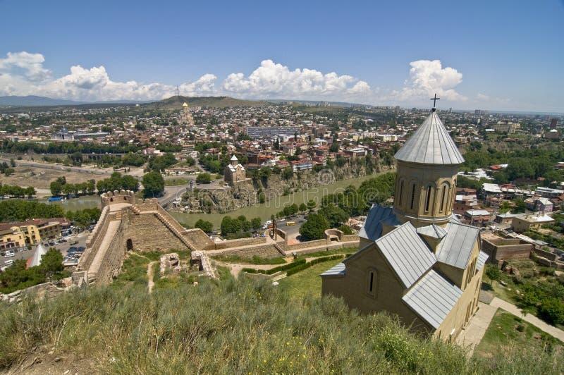 πανόραμα Tbilisi στοκ φωτογραφίες με δικαίωμα ελεύθερης χρήσης