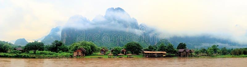 Vang Vieng, Λάος στοκ εικόνες με δικαίωμα ελεύθερης χρήσης