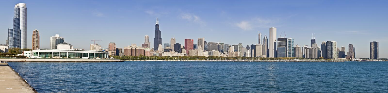 Πανόραμα XXXL του Σικάγου στοκ εικόνες με δικαίωμα ελεύθερης χρήσης