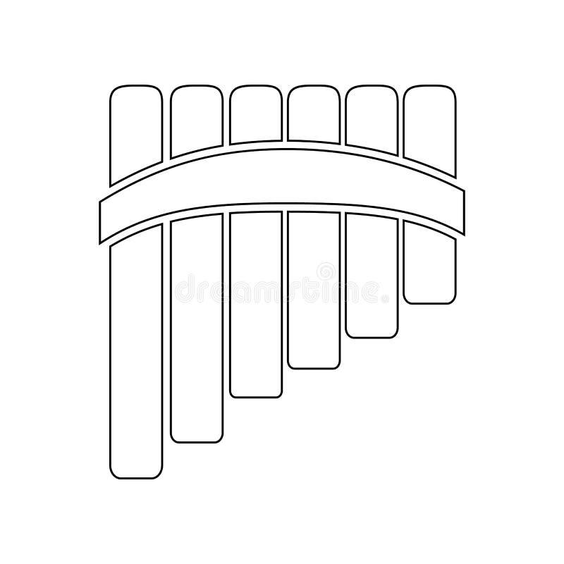 Παν εικονίδιο φλαούτων Στοιχείο του οργάνου μουσικής για το κινητό εικονίδιο έννοιας και Ιστού apps r ελεύθερη απεικόνιση δικαιώματος