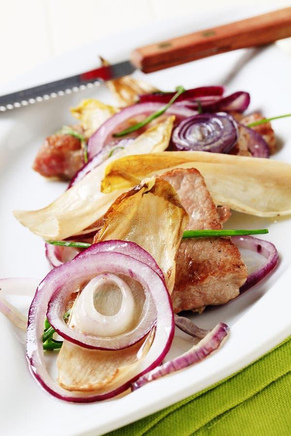 παν ψημένα χοιρινό κρέας λαχ& στοκ εικόνες