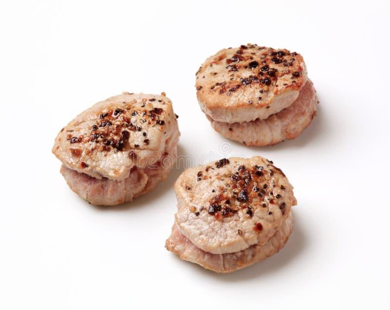 παν ψημένο χοιρινό κρέας tenderloin μ&eps στοκ εικόνες