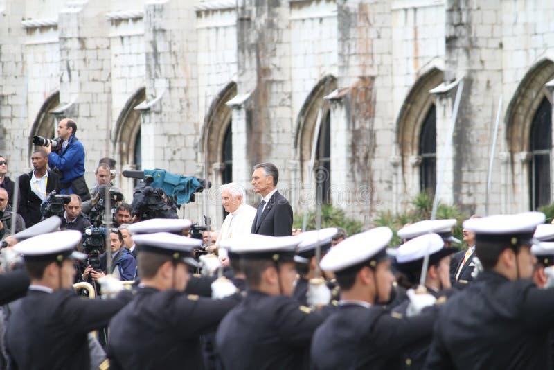 παπάς cavaco του Benedict Πρόεδρος Silva XVI στοκ εικόνες
