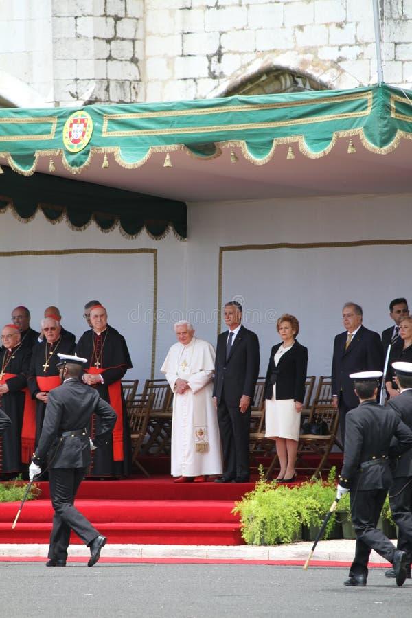 παπάς cavaco του Benedict Πρόεδρος Silva XVI στοκ φωτογραφίες με δικαίωμα ελεύθερης χρήσης