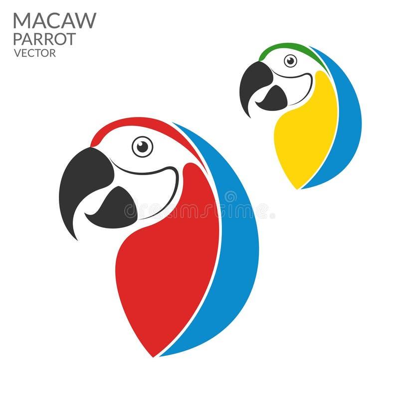 παπαγάλος macaw διανυσματική απεικόνιση