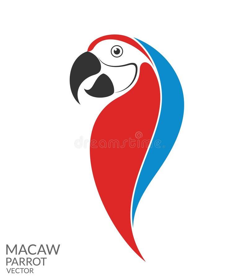παπαγάλος macaw απεικόνιση αποθεμάτων
