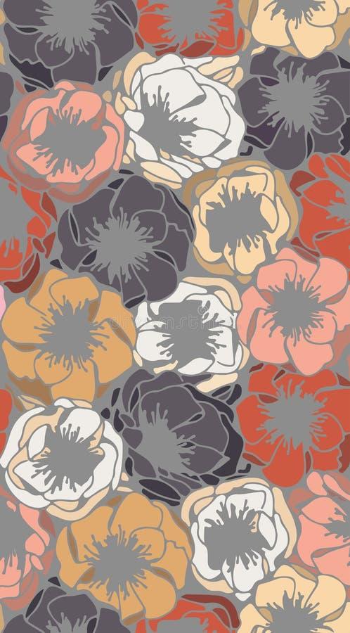 Παπαρούνες στα χρώματα κρητιδογραφιών ελεύθερη απεικόνιση δικαιώματος