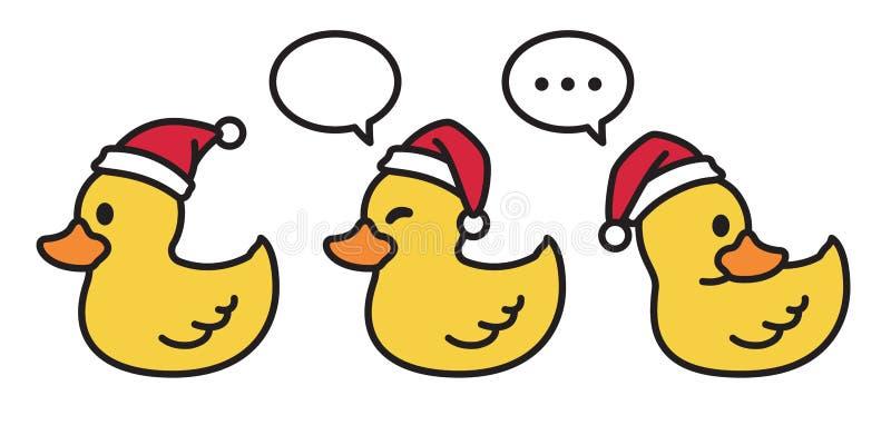 Παπιών διανυσματική Χριστουγέννων διανυσματική παπιών διανυσματική απεικόνιση λεκτικών φυσαλίδων χαρακτήρα κινουμένων σχεδίων λογ απεικόνιση αποθεμάτων