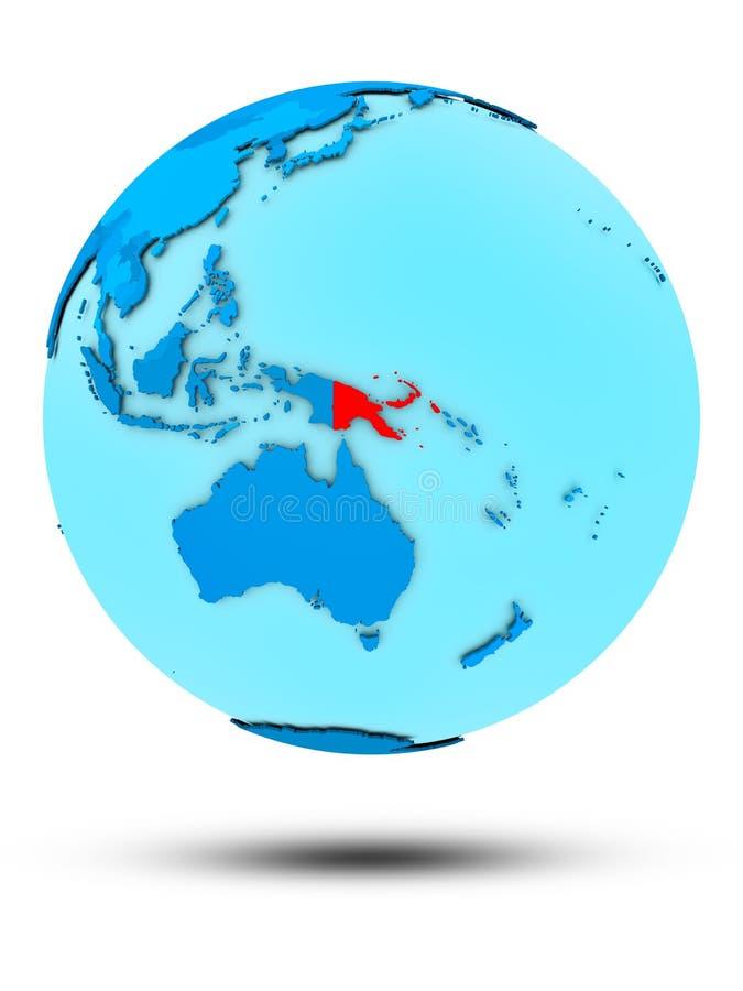 Παπούα Νέα Γουϊνέα στην μπλε πολιτική σφαίρα απεικόνιση αποθεμάτων