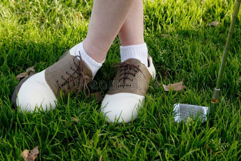 Download παπούτσια γκολφ στοκ εικόνα. εικόνα από bodybuilders, χλόη - 384365