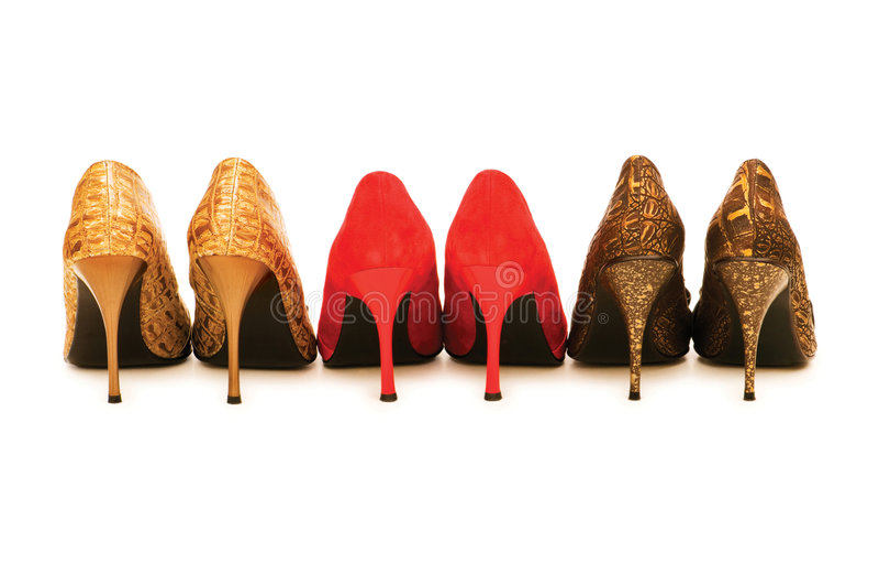 Παπούτσια γυναικών που απομονώνονται στοκ φωτογραφία με δικαίωμα ελεύθερης χρήσης
