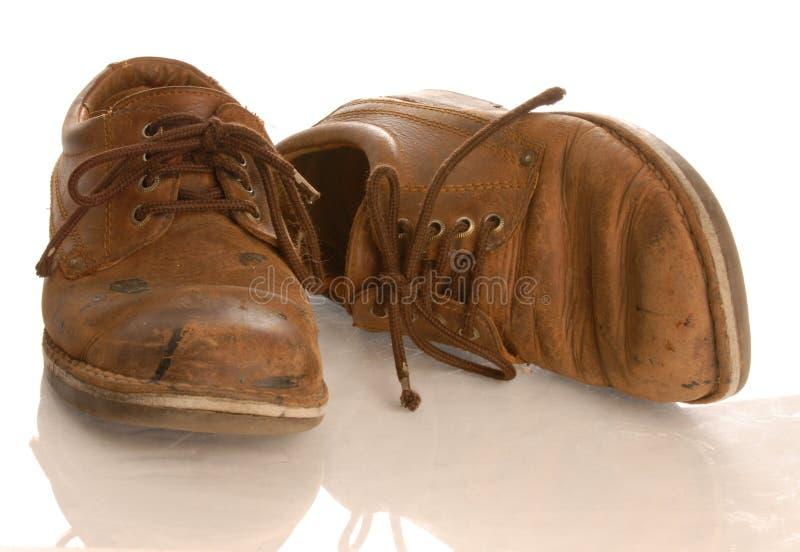 παπούτσια δέρματος που φ&omi στοκ φωτογραφίες