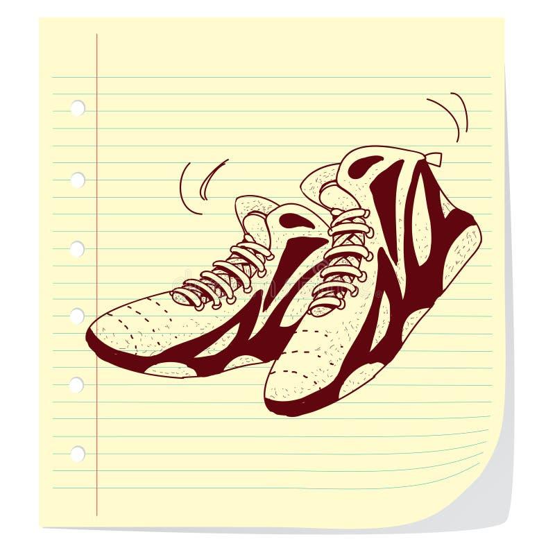 Παπούτσια καλαθοσφαίρισης ελεύθερη απεικόνιση δικαιώματος