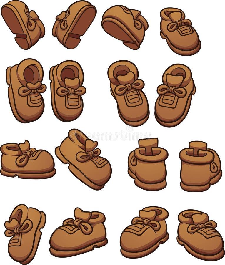 Παπούτσια κινούμενων σχεδίων διανυσματική απεικόνιση