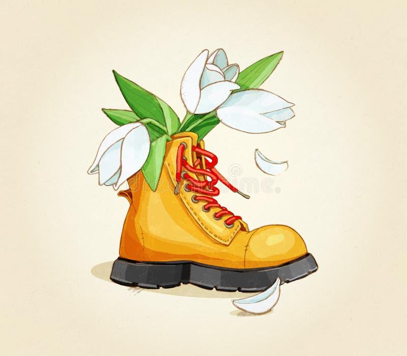 Παπούτσια Λουλούδια ελεύθερη απεικόνιση δικαιώματος