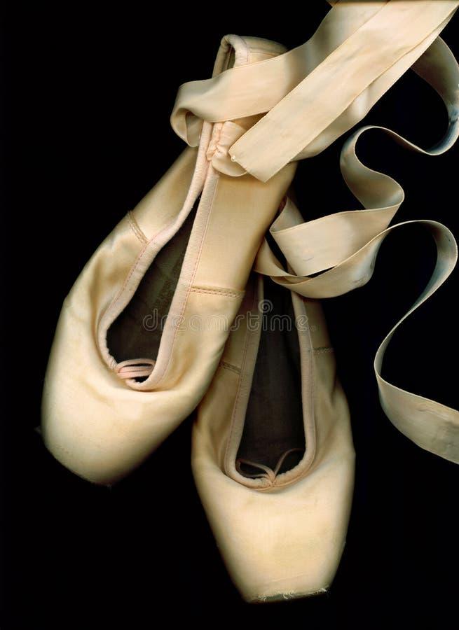 παπούτσια μπαλέτου pointe που & στοκ φωτογραφία