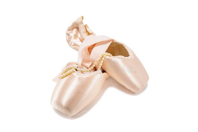 παπούτσια μπαλέτου pointe στοκ εικόνες με δικαίωμα ελεύθερης χρήσης