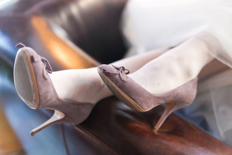 Παπούτσια νυφών στοκ εικόνες