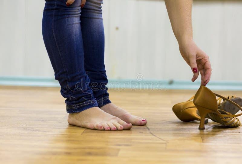 παπούτσια salsa στοκ εικόνες