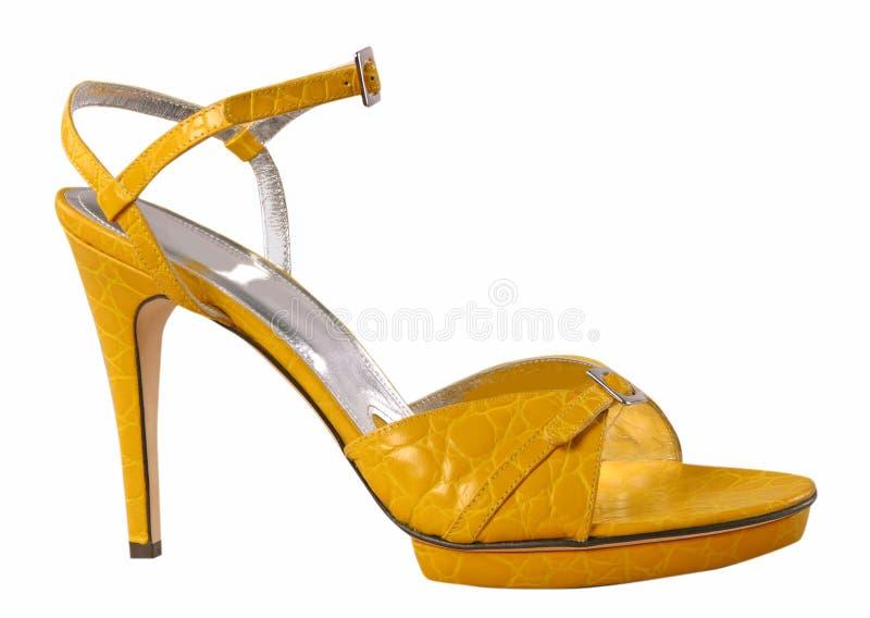 παπούτσι κίτρινο στοκ φωτογραφίες