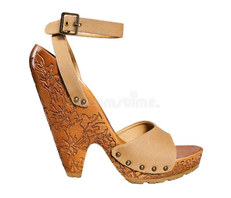 παπούτσι κίτρινο στοκ εικόνες