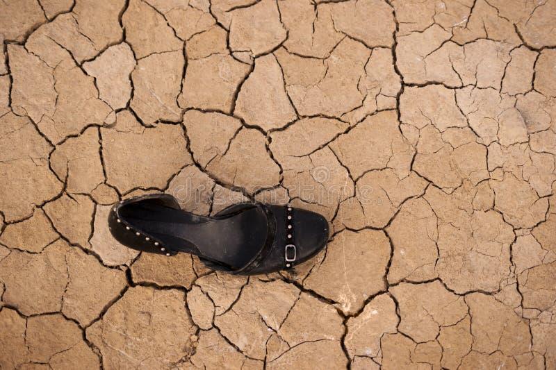 Παπούτσι μαύρων γυναικών στοκ φωτογραφία με δικαίωμα ελεύθερης χρήσης