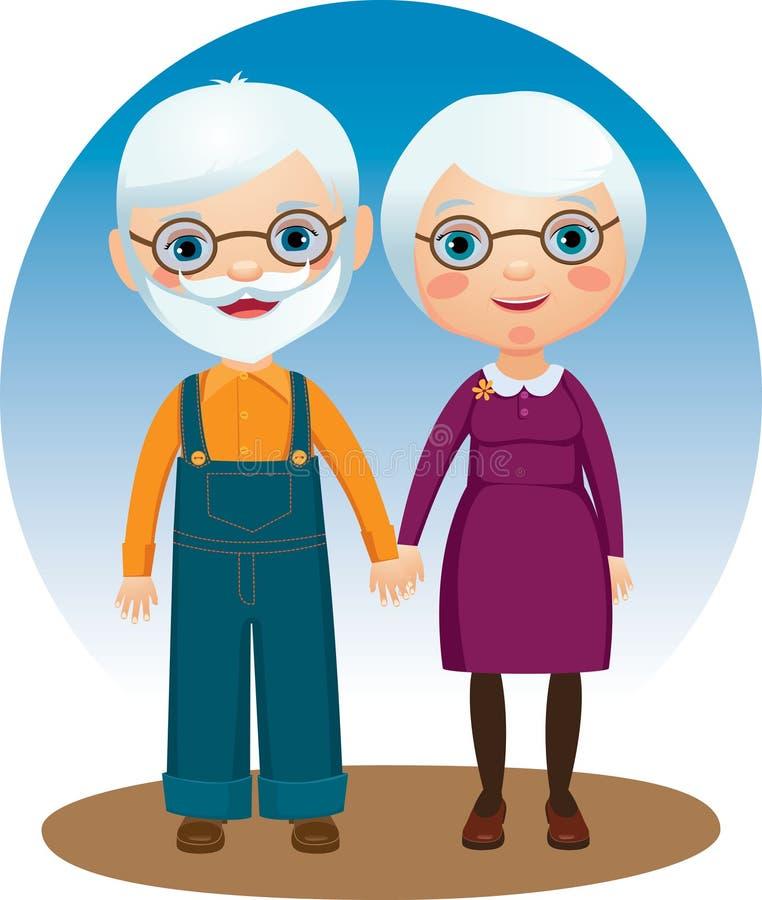 παππούδες και γιαγιάδε&sigm διανυσματική απεικόνιση
