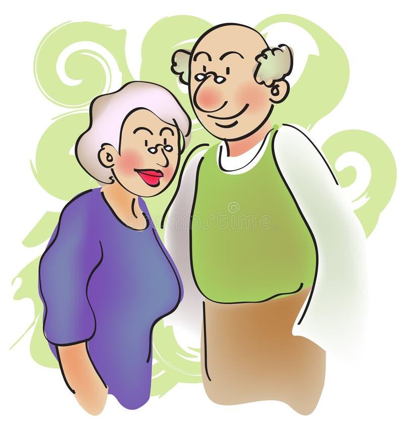 παππούς και γιαγιά διανυσματική απεικόνιση