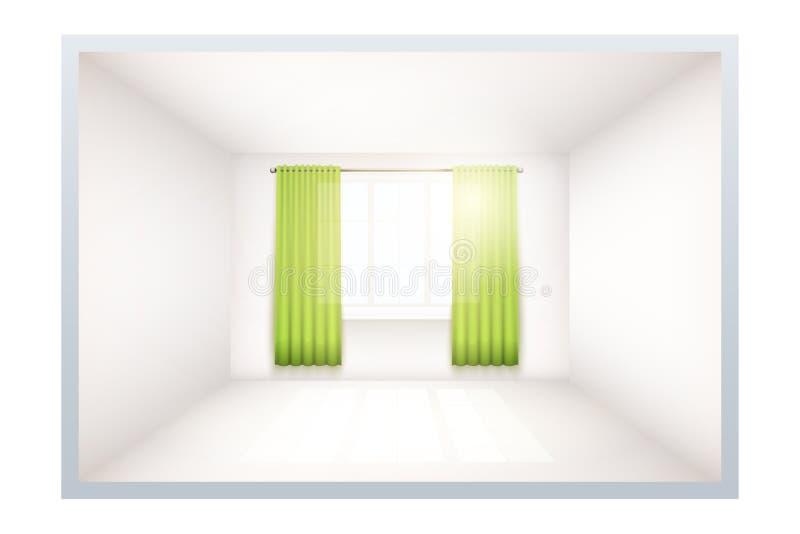 Παράδειγμα του κενού δωματίου με το παράθυρο ελεύθερη απεικόνιση δικαιώματος