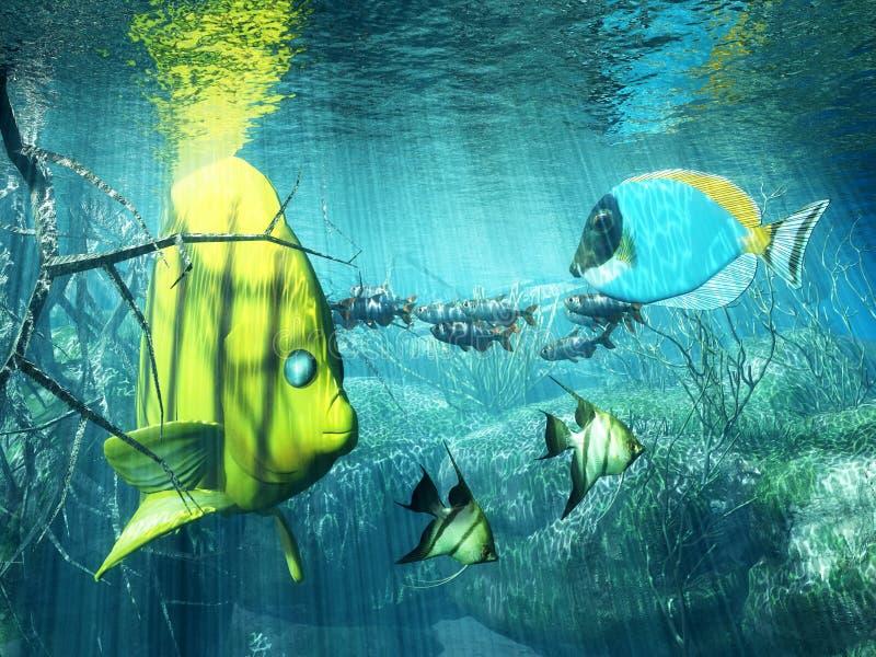 παράδεισος υποβρύχιος απεικόνιση αποθεμάτων