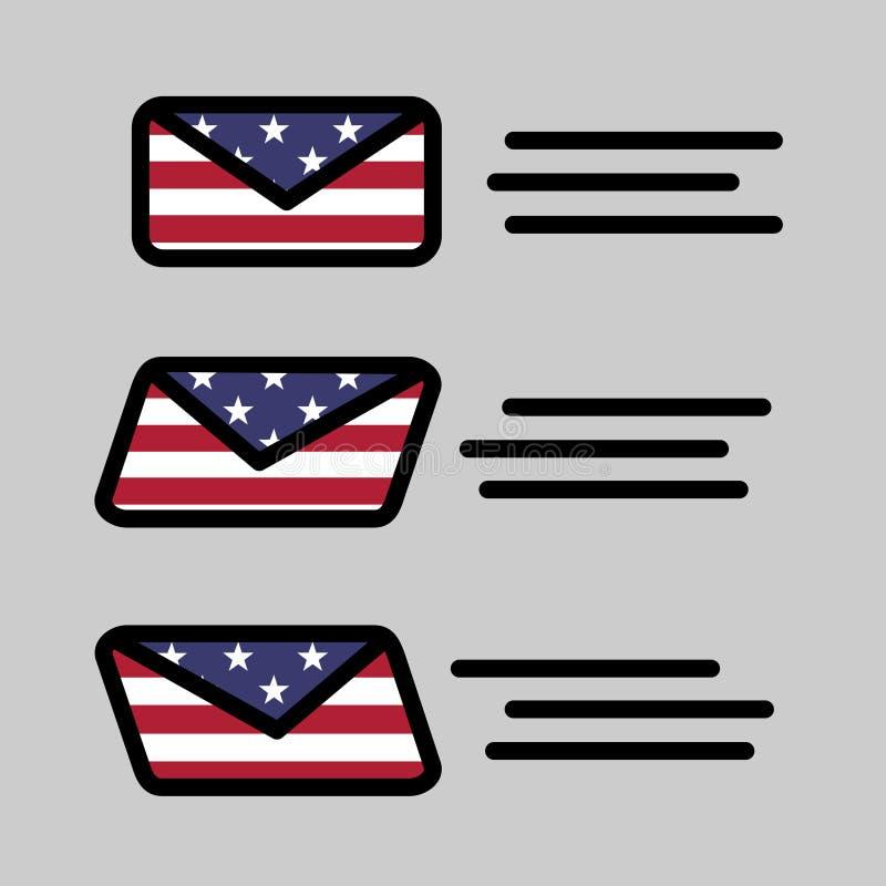 παράδοσης ταχυδρομείου τρία στο δέκτη ελεύθερη απεικόνιση δικαιώματος