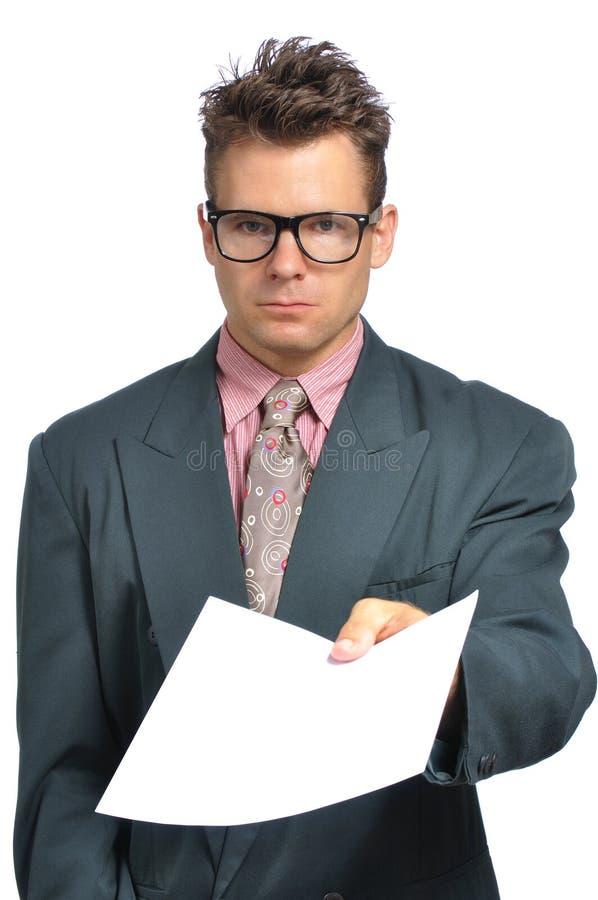 Παράδοση ενός εγγράφου στοκ φωτογραφία με δικαίωμα ελεύθερης χρήσης